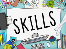 Skills Ability Capacity Talent Technique Concept Royalty Free Stock Images