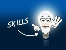 Skills Bulb Lamp Energy Light blue Royalty Free Stock Image