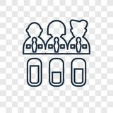 Skills concept vector linear icon isolated on transparent backgr stock illustration