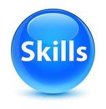 Skills glassy cyan blue round button Stock Photos