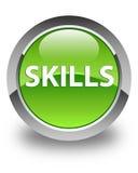 Skills glossy green round button. Skills isolated on glossy green round button abstract illustration Royalty Free Stock Photography