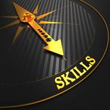 Skills on Golden Compass. Stock Image