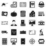 Skills icons set, simple style. Skills icons set. Simple set of 25 skills vector icons for web isolated on white background Stock Photos