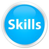 Skills premium cyan blue round button. Skills isolated on premium cyan blue round button abstract illustration Stock Photo