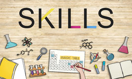 Skills Job Profession Expertness Aptitude Concept Stock Image