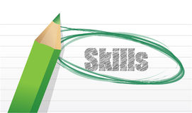 Skills mark on a notepad pice of paper. Stock Photography