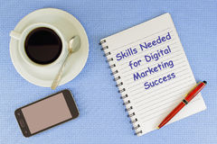 Skills Needed for Digital Marketing Sucess Stock Photography