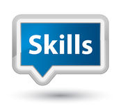 Skills prime blue banner button Stock Photos