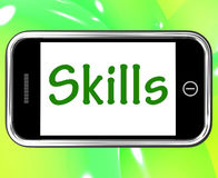 Skills Smartphone Shows Training And Learning. Skills Smartphone Showing Training And Learning On Web vector illustration