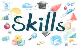 Skills Strategy Education Knowledge Concept Stock Photos