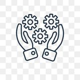 Skills vector icon isolated on transparent background, linear Sk royalty free illustration