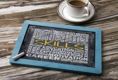 Skills word cloud Stock Photo