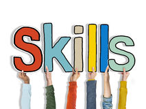 Skills Word Concepts Isolated on Background Concept Stock Photography