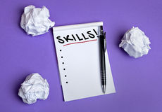 Skills word Stock Photos