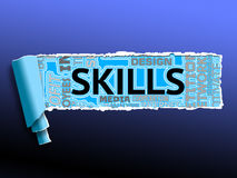 Skills Word Represents Skilled Expertise And Competent Royalty Free Stock Photo