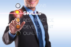 Skils, solution, best practice, quality Stock Image