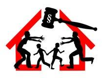 Skilsmässa och arrest Arkivbild