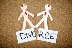 Skilsmässabegrepp Fotografering för Bildbyråer