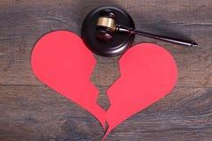 Skilsmässabegrepp Arkivbild