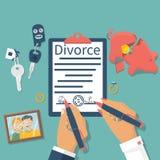 Skilsmässabegreppsvektor arkivbild