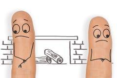 Skilsmässahägring för ett ledset och ensamt par Arkivfoton