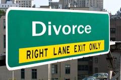 skilsmässahuvudvägtecken Royaltyfria Foton