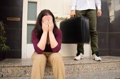 Skilsmässan fotografering för bildbyråer