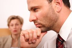 skilsmässaförbindelseproblem Royaltyfri Fotografi