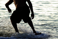 Skim Boarding Stock Images
