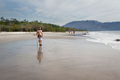 Skim boarding in Costa Rica Royalty Free Stock Photography