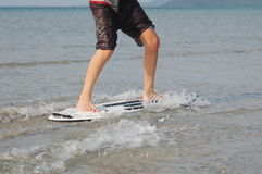 Skim boarding Royalty Free Stock Photo