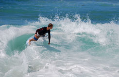 Skimboarder at Aliso Beach, Laguna Beach, CA Stock Photo