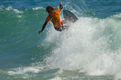Skimboarder Competes Royalty Free Stock Photos