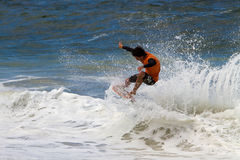 Skimboarder Competes Stock Photos
