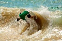 Skimboarding masculino Foto de Stock