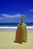 Skimboards auf dem Strand Stockbild