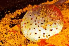 Skimmer paella detail. Royalty Free Stock Photo