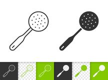 Skimmer simple black line vector icon royalty free illustration