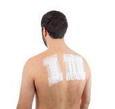 Skin Allergy Patch Test on Bacck Royalty Free Stock Photos