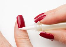 Skin around nails (cuticle) care Royalty Free Stock Photography