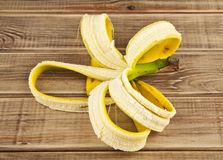 Skin of banana Stock Images
