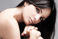 Skin and beauty care woman portrait Royalty Free Stock Image