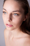Skin and beauty care - young beautiful female Royalty Free Stock Image