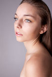 Skin and beauty care - young beautiful female Royalty Free Stock Photo