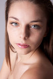 Skin and beauty care - young beautiful female Stock Photo