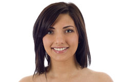 Skin and Beauty Care - Young Beautiful Woman Royalty Free Stock Photography