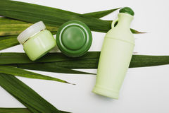Skin and body care hygiene moisture lotion Stock Images