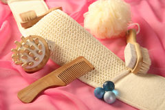 Skin and bodycare accessories Stock Photo
