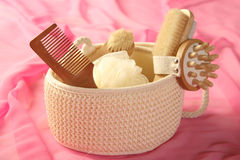 Skin and bodycare accessories Royalty Free Stock Images