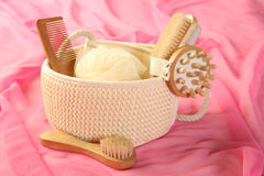 Skin and bodycare accessories Royalty Free Stock Photo